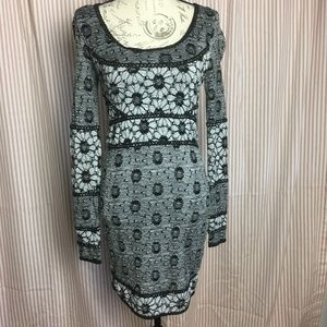 Free People Black Floral Crochet Lace Dress Size S
